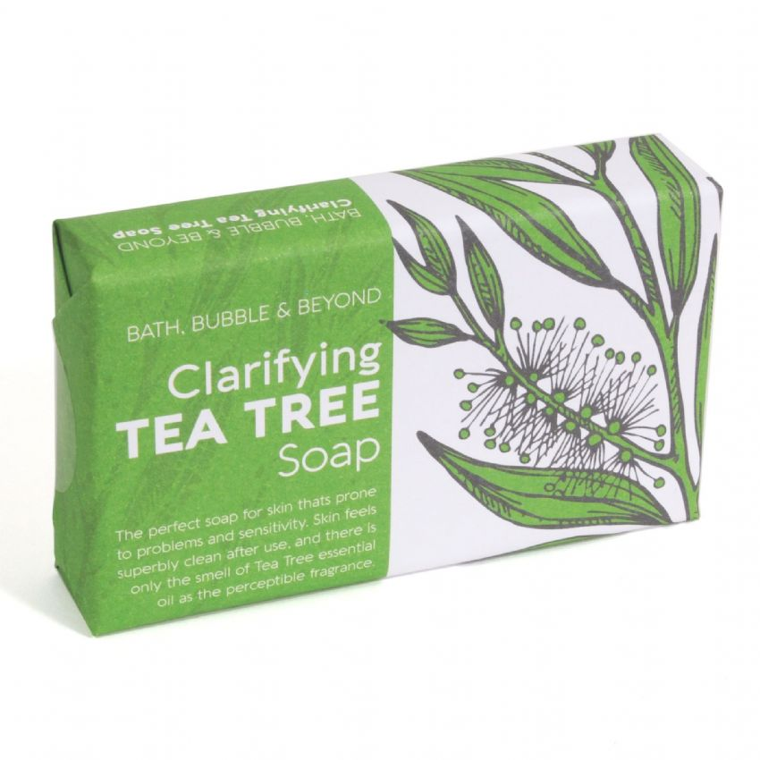 Tea Tree Clarifying Soap Slice - Bath Bubble & Beyond 120g